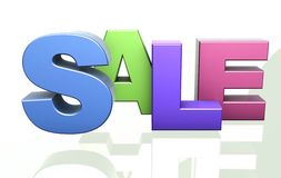 Sale word announcement concept Royalty Free Stock Image