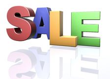Sale word announcement concept Royalty Free Stock Photography