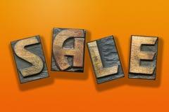 Sale word wooden orange Stock Photos