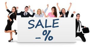 Sale word on banner Royalty Free Stock Photo