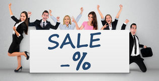 Sale word on banner Stock Photography