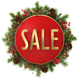 Sale word with christmas decorations Stock Photo