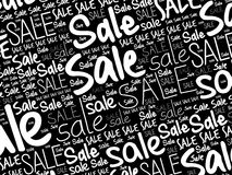 SALE word cloud collage background Stock Photo