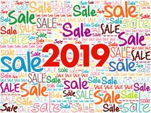 2019 SALE word cloud collage stock illustration