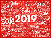 2019 SALE word cloud collage vector illustration