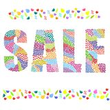 Sale word. Color vector graphic illustration design art Stock Photography