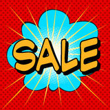 Sale the word comic style Royalty Free Stock Photos