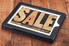 Sale word on digital tablet Royalty Free Stock Photography