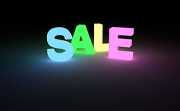 SALE word glow in the dark letters Stock Photography