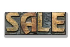 Sale word isolated royalty free stock photo