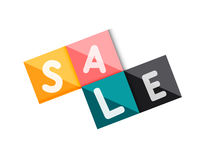Sale word label banner Royalty Free Stock Images