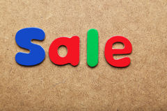 Sale word Royalty Free Stock Photo