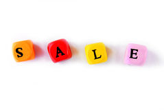 Sale word  multicolor wooden Stock Photos