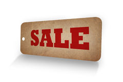 SALE word in Old paper tag Royalty Free Stock Photos