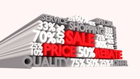 Sale word and percentage discount signs Royalty Free Stock Photo