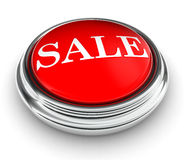 Sale word on red push button Royalty Free Stock Photography