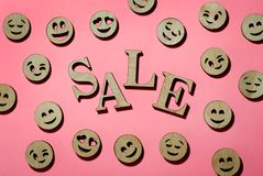 Sale, the word sale in stock photo
