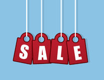 Sale Word Tags Hanging Royalty Free Stock Photo