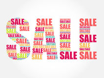 SALE Word, words cloud Royalty Free Stock Images
