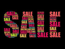 SALE Word,  words cloud Stock Photos