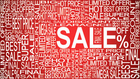 Sale words. Sales promotional. Store Sale concept. Stock Image