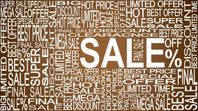 Sale words. Sales promotional. Store Sale concept. Royalty Free Stock Images