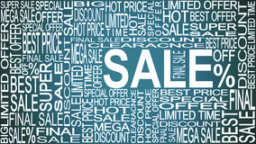Sale words. Sales promotional. Store Sale concept. Royalty Free Stock Photography