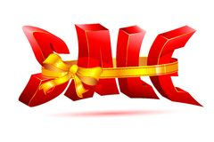 Sale wrapped with Ribbon Stock Images