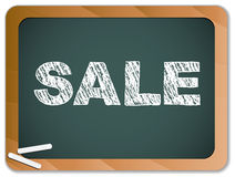 Sale written on blackboard Stock Image
