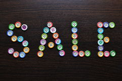 Sale written with buttons Royalty Free Stock Photography
