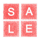 Sale written with handmade letters Royalty Free Stock Photography