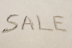 Sale Written in Sand Stock Photos