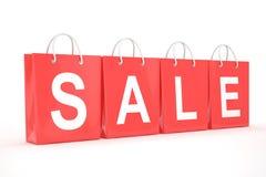 Sale written on shopping bag Stock Image