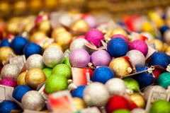 Sale of xmas baubles Stock Photography