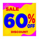 SALE YELLOW BLUE 10% 20% 30% 40% 60% DISCOUNT-06 vector illustration