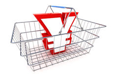 Sale Yen Basket Illustration Royalty Free Stock Images