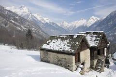 Salecchio superiore on the alps Royalty Free Stock Photos