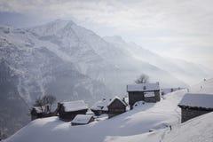 Salecchio superiore on the alps Stock Images