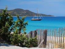 Saleccia海滩 免版税库存图片