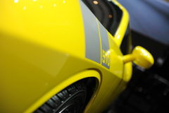 Saleen  Mustang 570,Super run,yellow Royalty Free Stock Photo