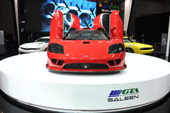Saleen S7,Super run,red,Beautiful car models. California Saleen company production of SaleenS7TwinTurbo, is currently the world's most expensive speed of the Stock Photo