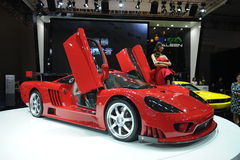 Saleen S7,Super run,red. California Saleen company production of SaleenS7TwinTurbo, is currently the world's most expensive speed of the world's second fastest Royalty Free Stock Images
