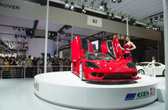 Saleen super car in automobile exhibition Stock Image