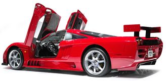 SALEEN supercar. SALEEN red supercar with shadow isolate on white Stock Photography