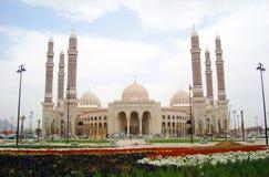 Saleh Mosque em Sanaa Yemen imagem de stock royalty free