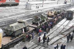 Salekhard, Rusland, Maart 2018, nomadisch kamp van rendierherders royalty-vrije stock foto's