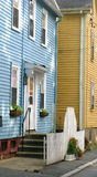 Salem. Yellow and blue house in salem Stock Photography