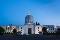 Salem Capitol of Oregon at Night Royalty Free Stock Photos