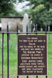 Salem Cemetery Sign. A sign on the fence of a cemetery in Salem, Massachusetts, United Sates royalty free stock photo