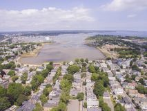 Salem and Collins Cove. Salem, Massachusetts and its small coastal inlet, Collins Cove Royalty Free Stock Photography